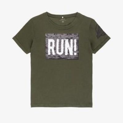 Name it - Veeg shirt Jurassic groen wi18