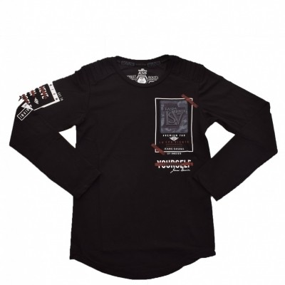Gabbiano - 7283 longsleeve black zo18