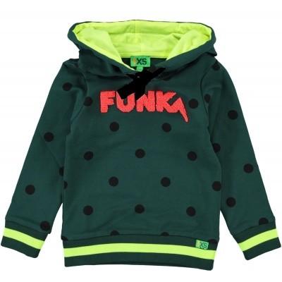 Funky XS - Funk sweater bottle green wi18