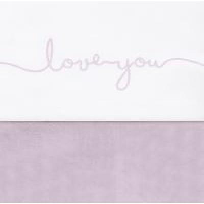 Jollein - Laken 75x100cm Love you vintage pink