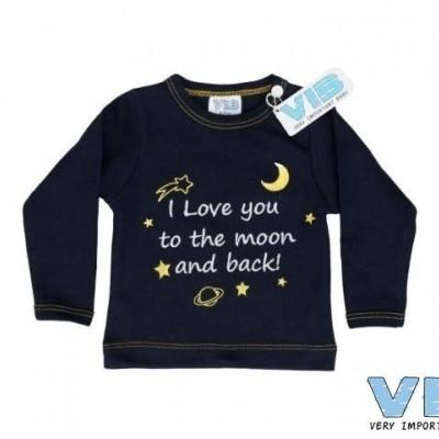 VIB - Shirt navy I love you to the moon...
