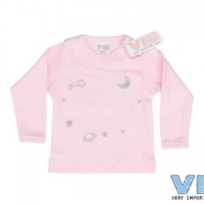 VIB - Shirt I love you to the moon ....roze