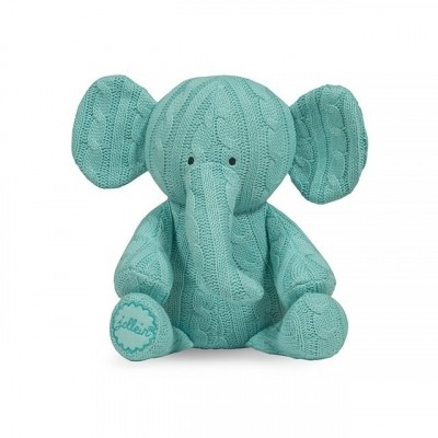 Jollein - Knuffel cable elephant jade