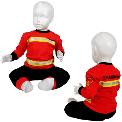 Fun2wear - Brandweer pyjama baby rood