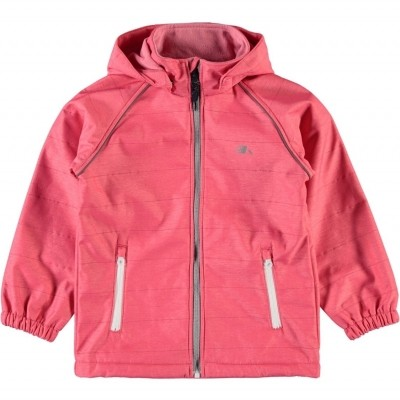 Name it - Alfa softshell jack meisjes sunkist coral zo18