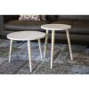 Afbeelding van Set van 2 houten tafeltjes wit