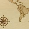 Afbeelding van Wandbord Wereldkaart hout