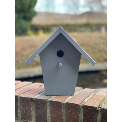 Foto van Vogelhuisje/ nestkastje mezen grijs