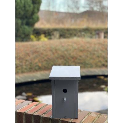 Foto van Vogelhuisje/ nestkastje mezen, grijs rechthoekig