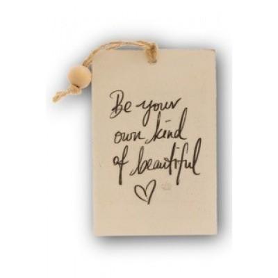 Foto van Houten kaart: Be your own kind of beatiful