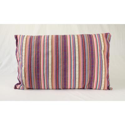 Kussen Boho-style pastel + paars achter