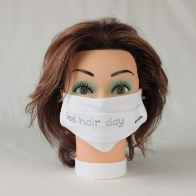 Mondkapje bad hair day zilver