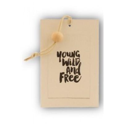 Foto van Houten kaart: Young wild and free