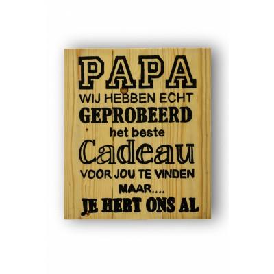 Wandbord voor papa