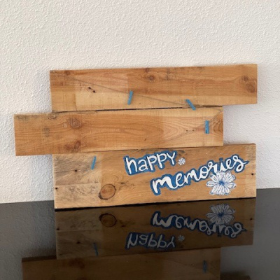 Wandbord happy memories