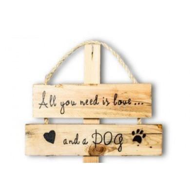 Wandbord voor hondenliefhebbers