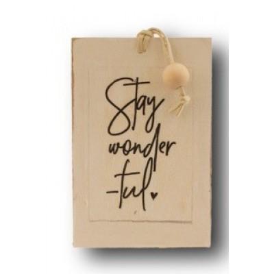 Foto van Houten kaart: Stay wonderful