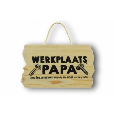 Wandbord 'werkplaats papa'