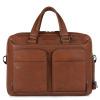 Foto van Piquadro B3 CA2849 Black Square Portfolio Computer Briefcase Cognac