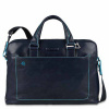 Foto van Piquadro B2 CA3335 Blue Square Computer Portfolio Briefcase Blue