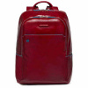 Foto van Piquadro B2 CA3214 Blue Square Computer Backpack Red