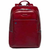 Foto van Piquadro B2 CA3214 Blue Square Computer Backpack Red
