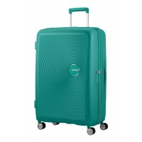 Foto van American Tourister Soundbox Spinner 77/28 exp Forest Green