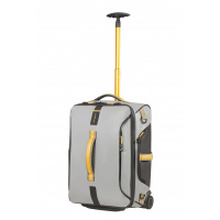 Foto van Samsonite Paradiver Light Duffle Wheels Backpack 55/20 Grey/Yellow