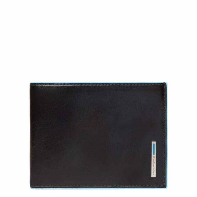 Foto van Piquadro B2 PU257 Blue Square Men's Wallet Black