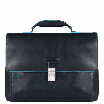 Foto van Piquadro B2 CA3111 Blue Square Expandable Computer Bag Blue