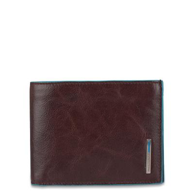 Foto van Piquadro B2 PU257 Blue Square Men's Wallet Mocca