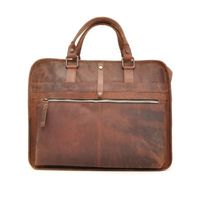 Foto van Barbarossa Ruvido 826-129 Single Section Businessbag Coffee