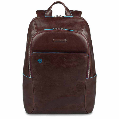Foto van Piquadro B2 CA3214 Blue Square Computer Backpack Mocca