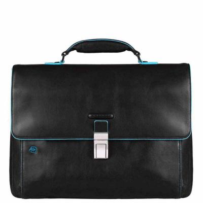 Foto van Piquadro B2 CA3111 Blue Square Expandable Computer Bag Black