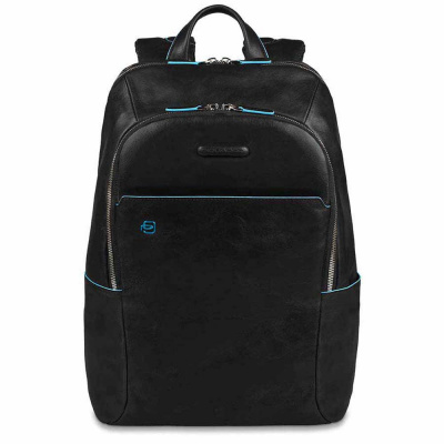Foto van Piquadro B2 CA3214 Blue Square Computer Backpack Black