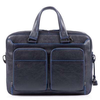Foto van Piquadro B2S CA2849 Portfolio Computer Briefcase Blue