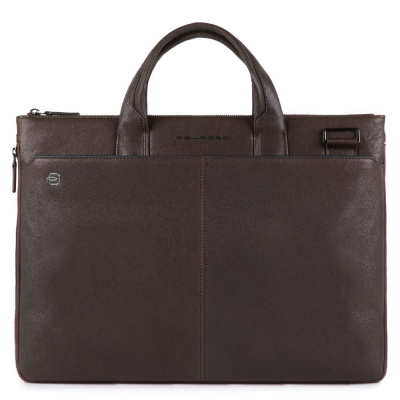 Foto van Piquadro B3 CA4021 Black Square Expandable Slim Computer Bag Dark Brown