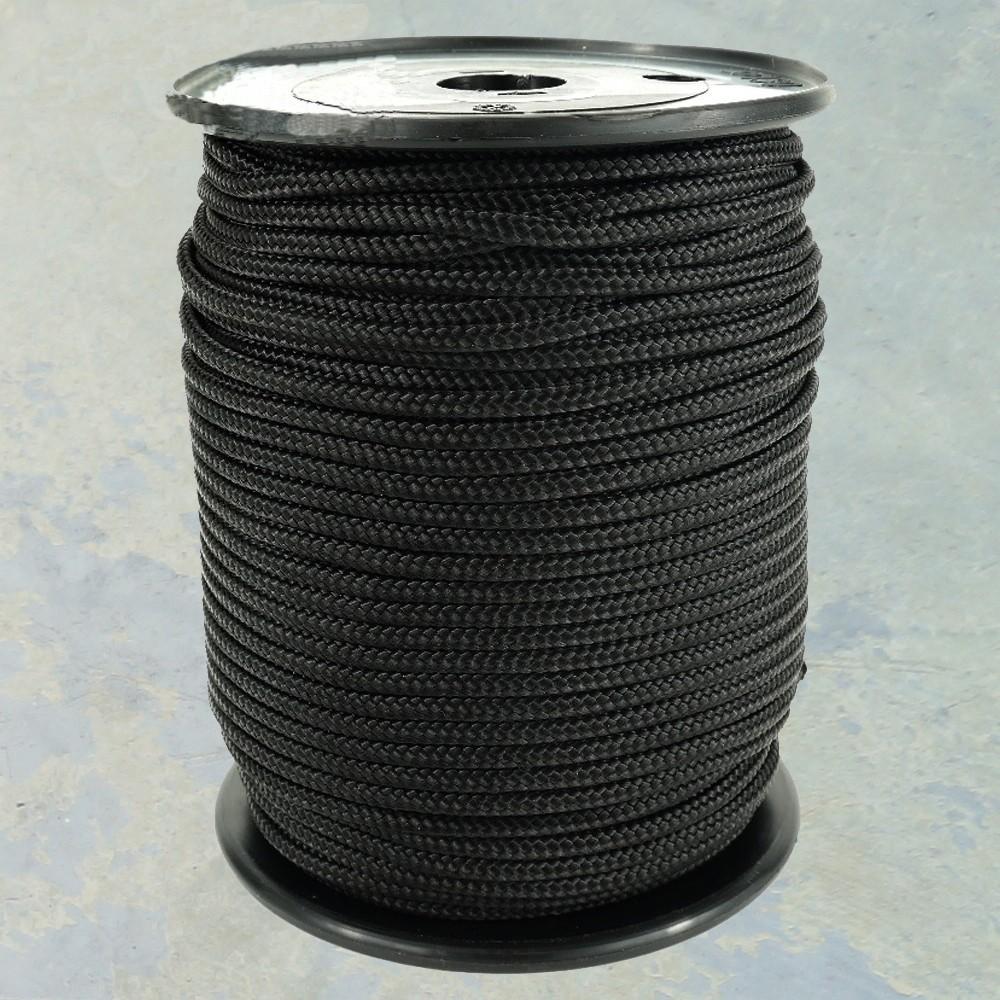 Nylonkoord 4 mm. Zwart