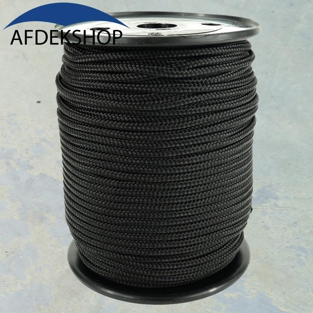 Nylonkoord 6 mm. Zwart