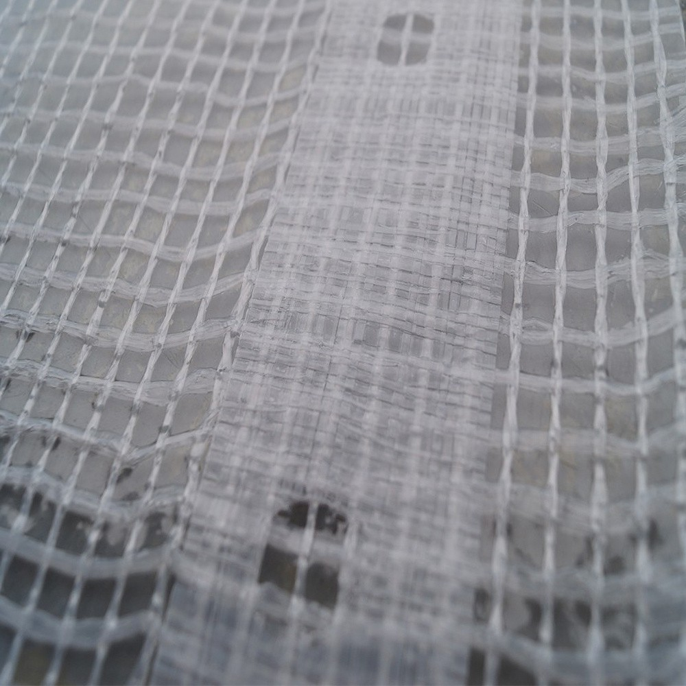 Gewapend PE dekkleed 220 gr/m2 Wit/transparant