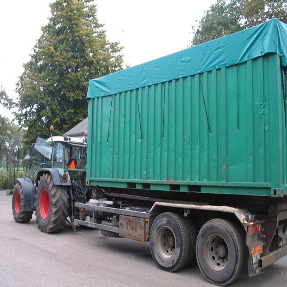 PVC Containerdekkleed 600 gram Groen