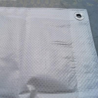 Foto van PE dekkleed 150 gr/m2 Wit/transparant