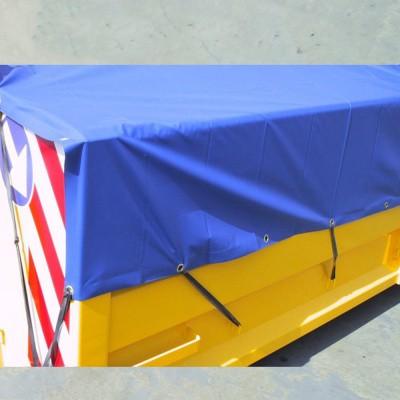 Foto van PVC Containerdekkleed 600 gram Blauw