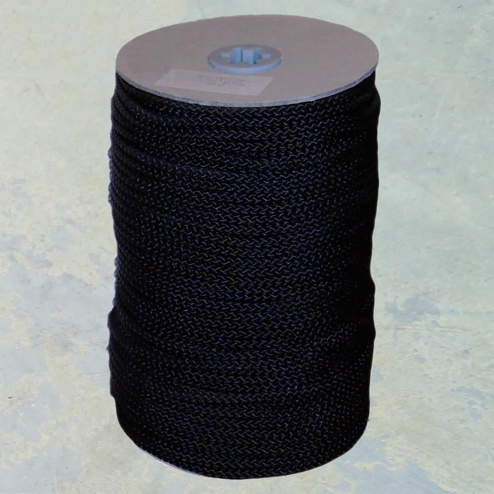 Nylonkoord 6 mm. Zwart per meter