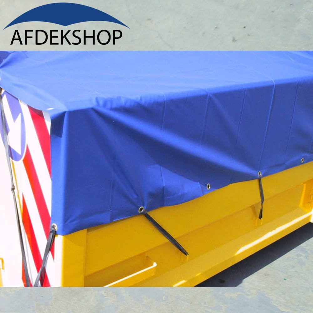 PVC Containerdekkleed 600 gram Blauw