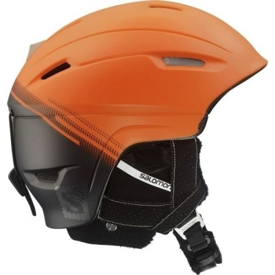 Foto van Salomon Ranger Custom Air Orange Black 2017 Skihelm