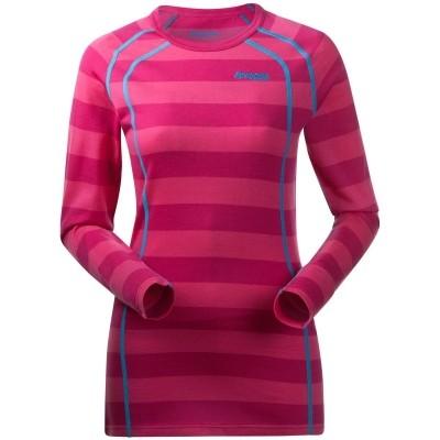 Foto van Bergans Fjellrapp Shirt Hot Pink Striped Dames