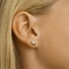 Afbeelding van Bicolor gouden oorknoppen met zirkonia 42.08549
