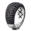 Afbeelding van Esprit ELRG91530B170 zilveren ring met zwart zirkonia