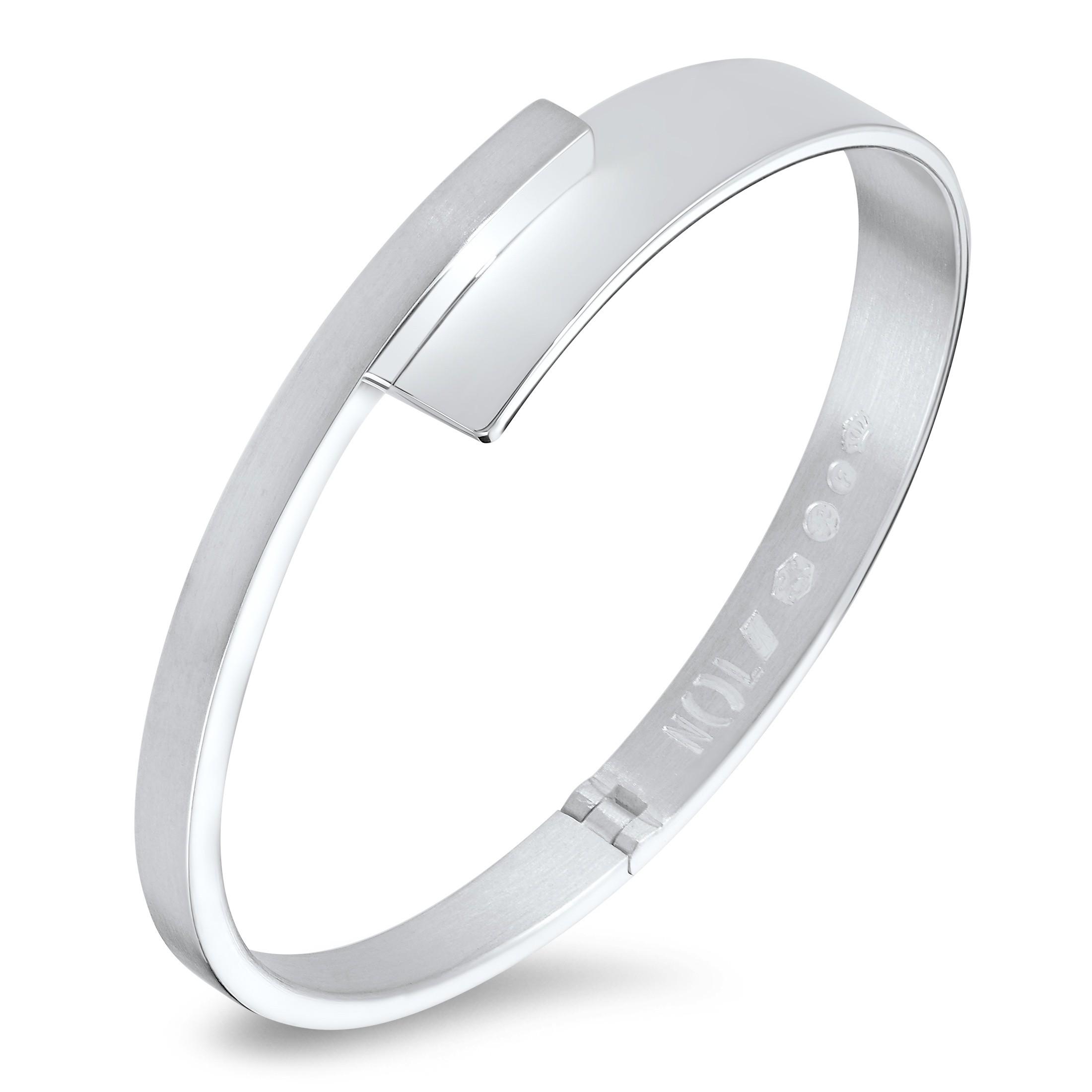 Welp Zilveren handgemaakte armband van Nol Sieraden AG02277.10 online FS-69